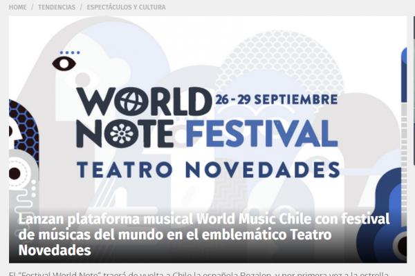 "Go en ""Festival World Note"" 24 Horas <br>Septiembre 2018<br>"